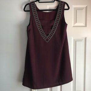 Burgundy mini dress NEW w/out tags